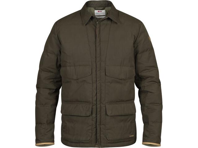 Fjällräven Sörmland Down Shirt Jacket Men, dark olive
